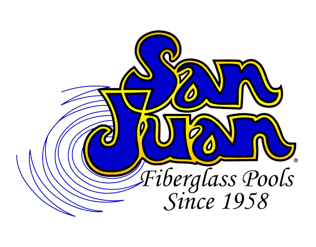 swimming pool logo design. San Juan Fiberglass Pools. Logo Swimming Pool Design
