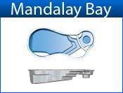 MANDALAY BAY fiberglass pool