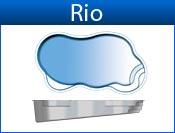 RIO fiberglass pool