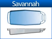 SAVANNAH fiberglass pool