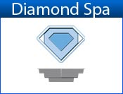 DIAMOND fiberglass spa