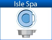 ISLE fiberglass spa