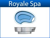 ROYALE fiberglass spa
