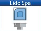 LIDO fiberglass spa