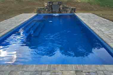 Grand Manhattan fiberglass swimming pool