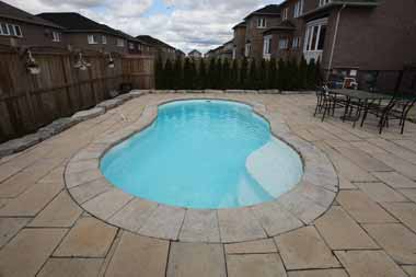 Lelani fiberglass swimming pool