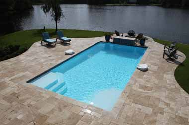 Monte Carlo fiberglass swimming pool