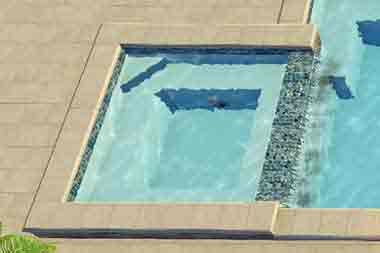 Scottsdale Spa fiberglass swimming pool