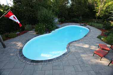 Oasis fiberglass swimming pool